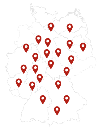 Sellanizer Deutschland-Karte mit Kundenstandorten