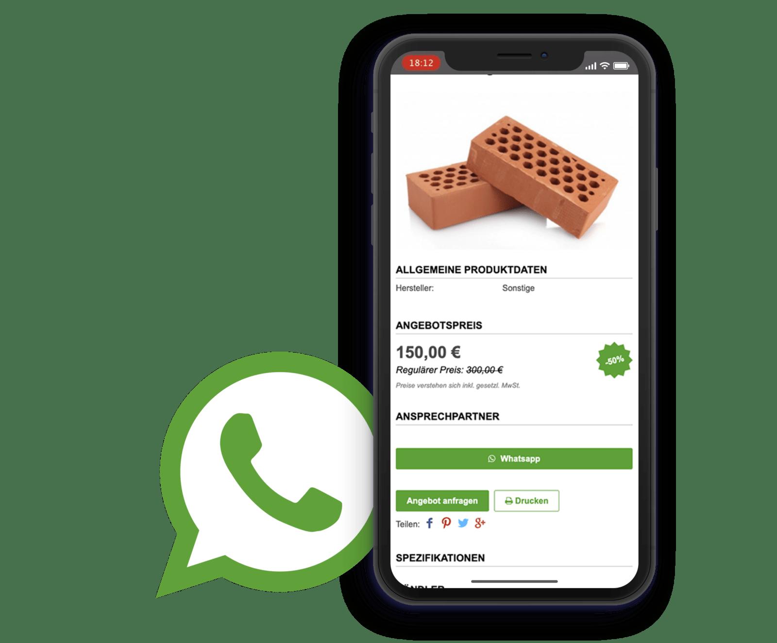 Sellanizer App mit WhatsApp Schnittstelle