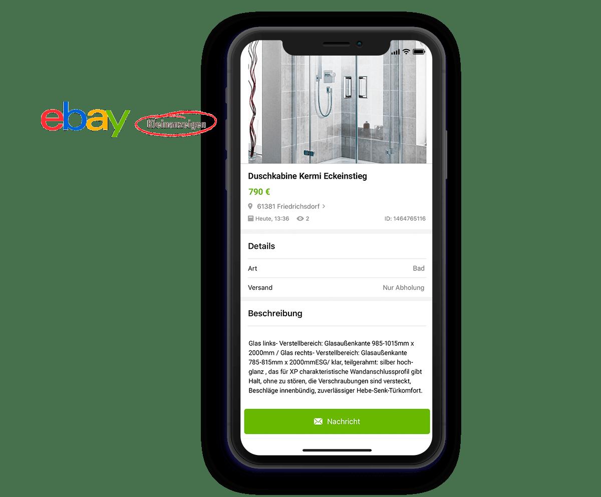 eBay Kleinanzeigenmanager im Sellanizer Tool